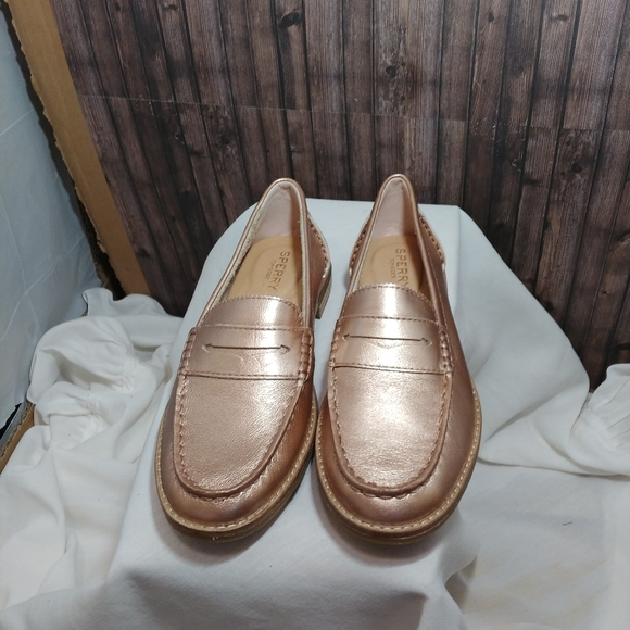 Sperry Shoes | Rose Gold Loafers | Poshmark
